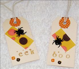 Tags for Halloween Cards for Swap